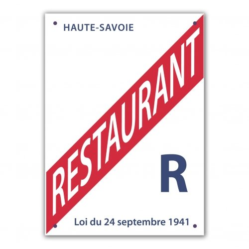 Plaque licence - Restauration
