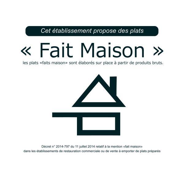 Plaque Label Fait Maison Signaletique